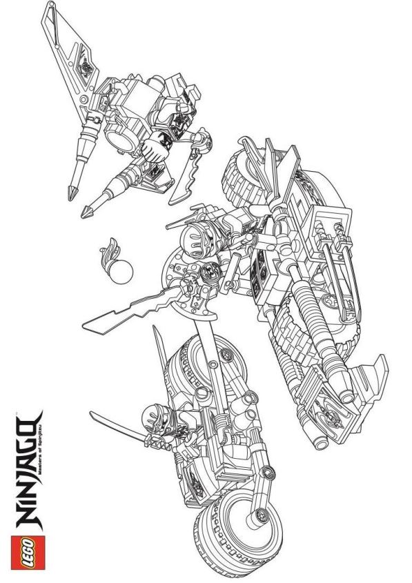 kids-n-fun | 42 coloring pages of lego ninjago