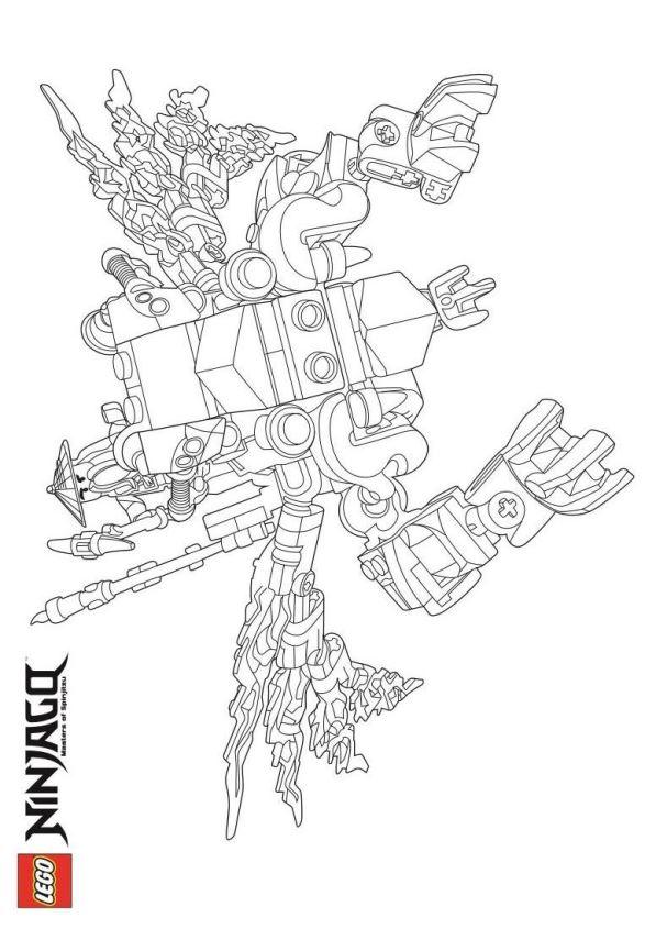 Kids N Fun Com 42 Coloring Pages Of Lego Ninjago
