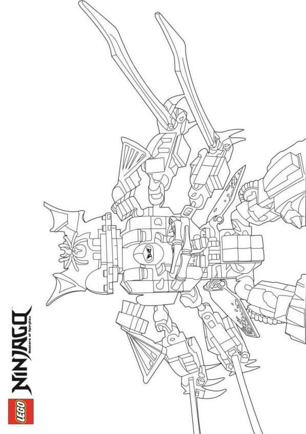 Kids N Fun Com 42 Coloring Pages Of Lego Ninjago
