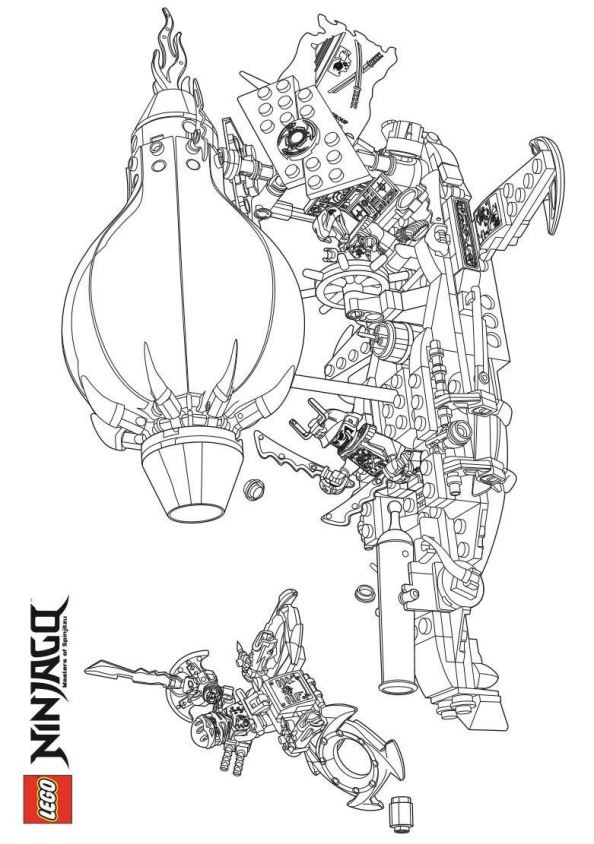 Kids-n-fun.com | 42 coloring pages of Lego Ninjago