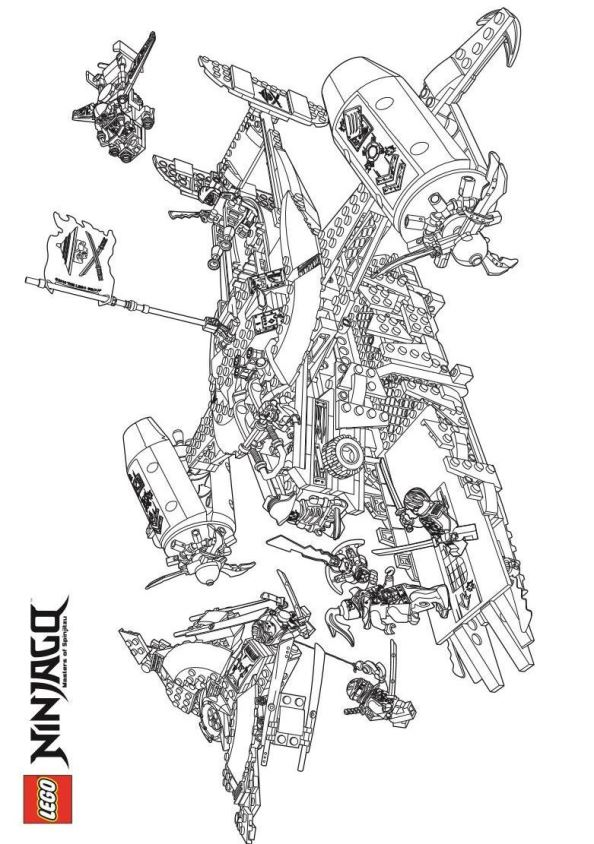 Kids n funcouk 42 coloring pages of Lego Ninjago