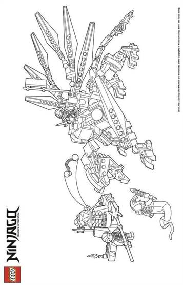 kidsnfun  42 coloring pages of lego ninjago