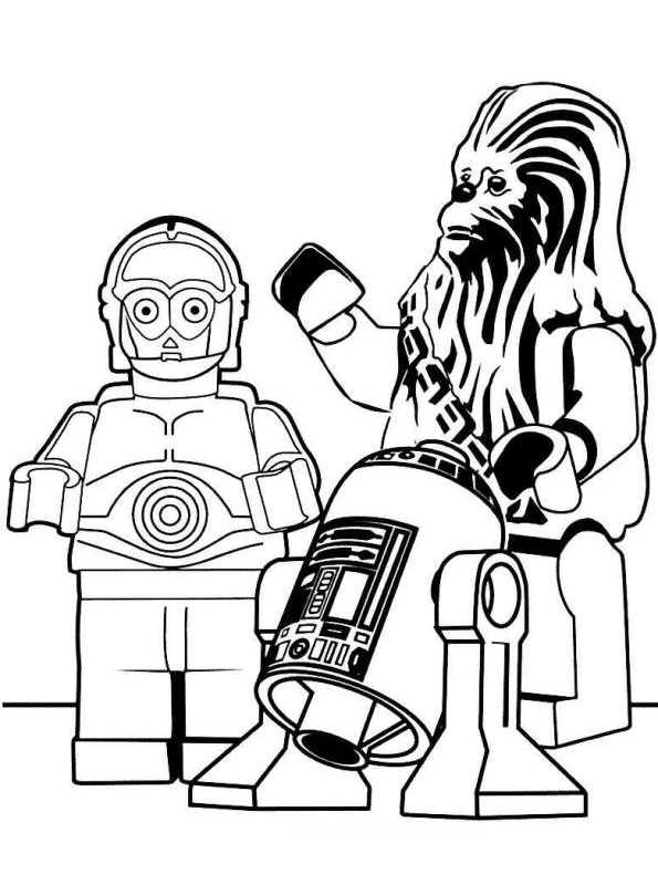 lego chewbacca coloring pages - photo#17