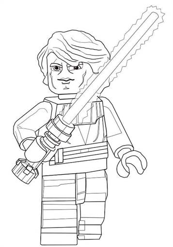 Lego Star Wars Darth Maul coloring page | Free Printable Coloring ... | 509x357