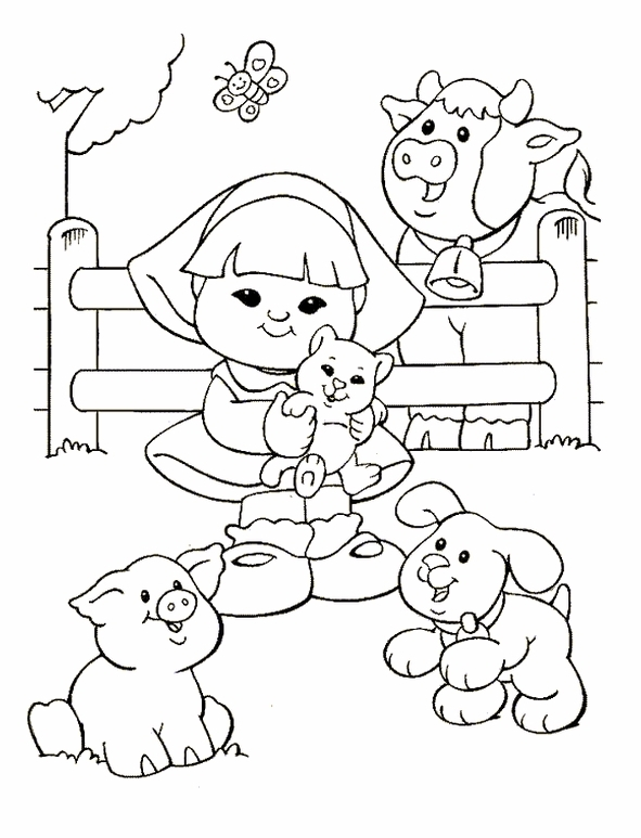 Kids n 26 coloring pages of little people for Kids n fun coloring pages