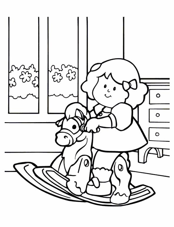 Kids n coloring page little people little people for Little people coloring pages