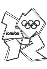 coloring page logo london 2012