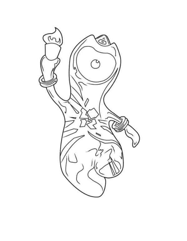 olympic mascots 2012 coloring pages - photo#29