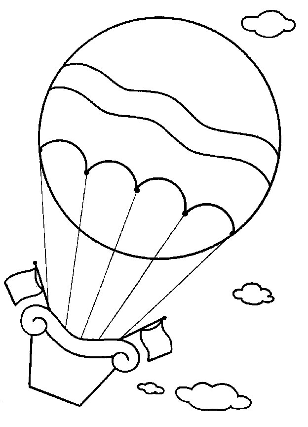11 hot air balloons coloring pages