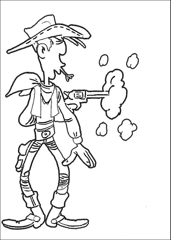 Kids-n-fun.com | 64 coloring pages of Lucky Luke