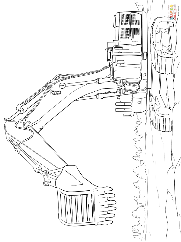 caterpillar machine coloring pages - photo#34