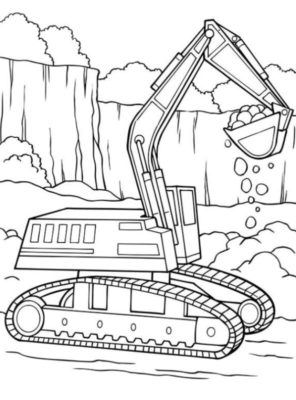 Kids N Fun Com 17 Coloring Pages Of Machines