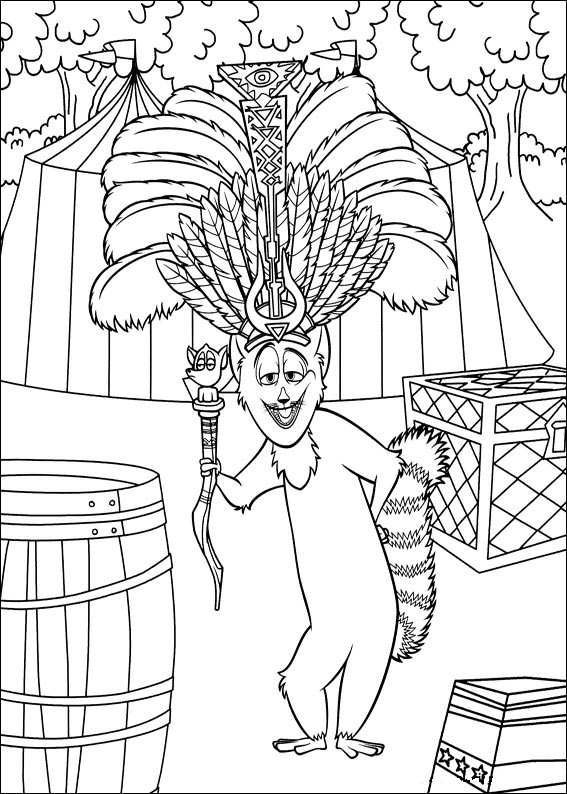 madagascar 3 circus coloring pages - photo#31