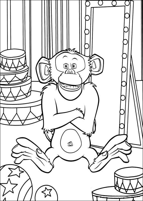 madagascar 3 circus coloring pages - photo#37