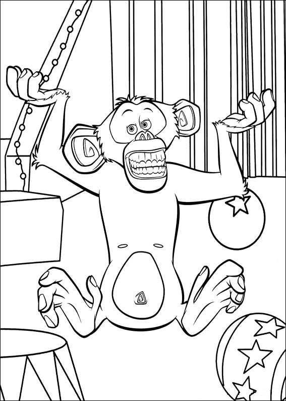 madagascar 3 circus coloring pages - photo#22