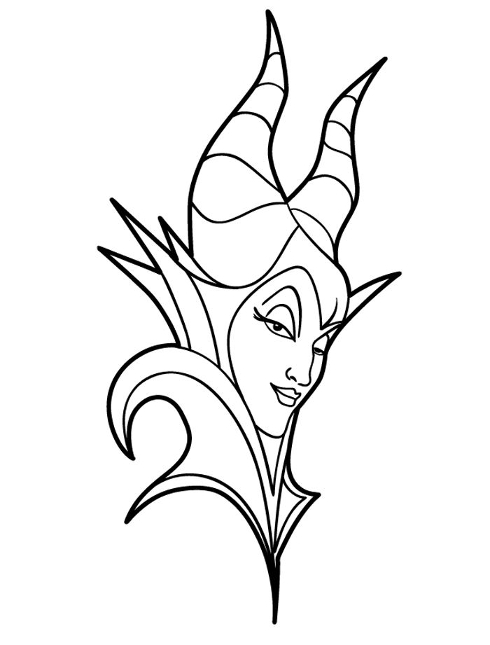 Kids n funcom 11 coloring pages of Maleficent