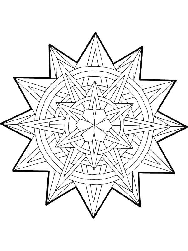 Volwassen Kleurplaat Kerst Kids N Fun Com Coloring Page Mandala Christmas Mandala