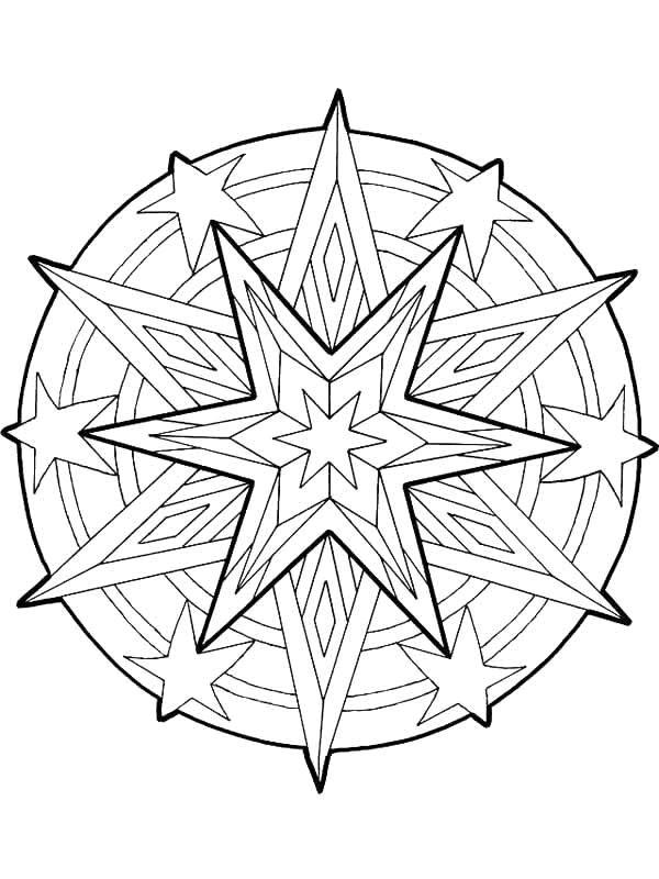 Kidsnfuncom  36 coloring pages of Mandala Christmas