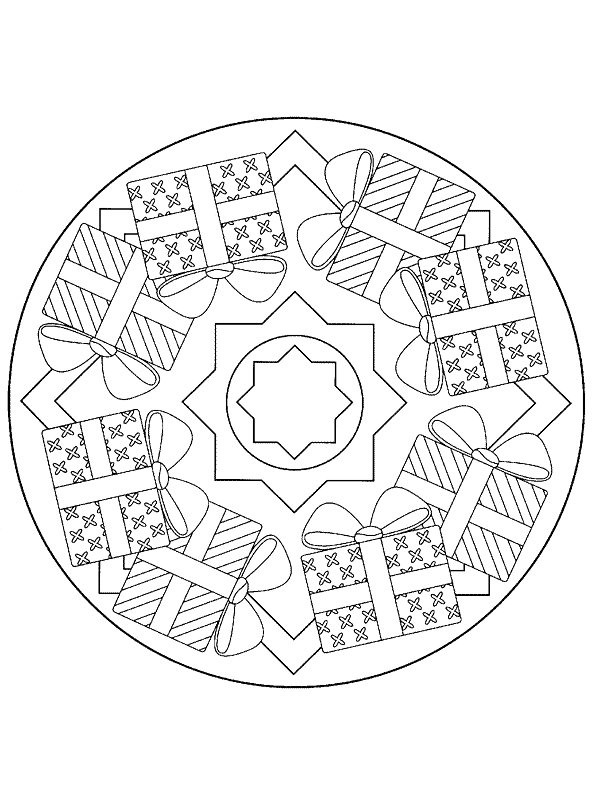 Kids N Funcouk 36 Coloring Pages Of Mandala Christmas - Christmas-mandala-coloring-pages