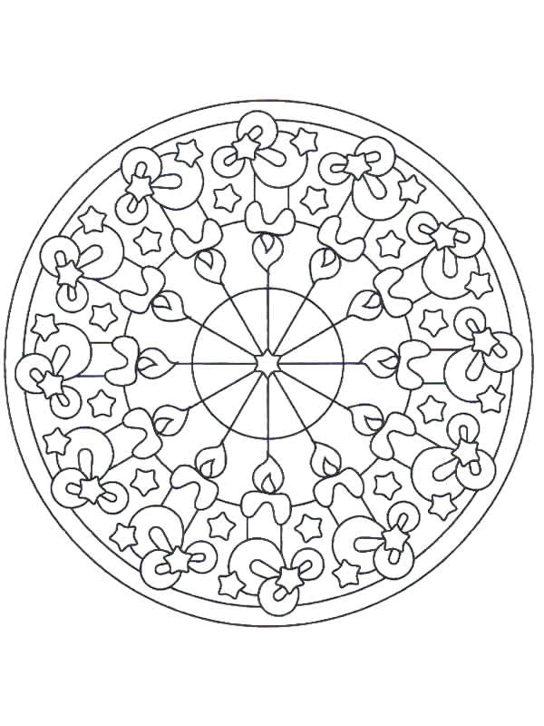 christmas mandala coloring pages - photo#35