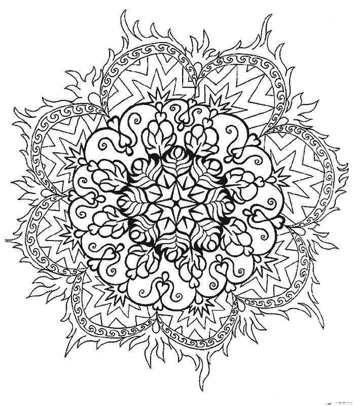 Kids-n-fun.com | 39 coloring pages of Mandala
