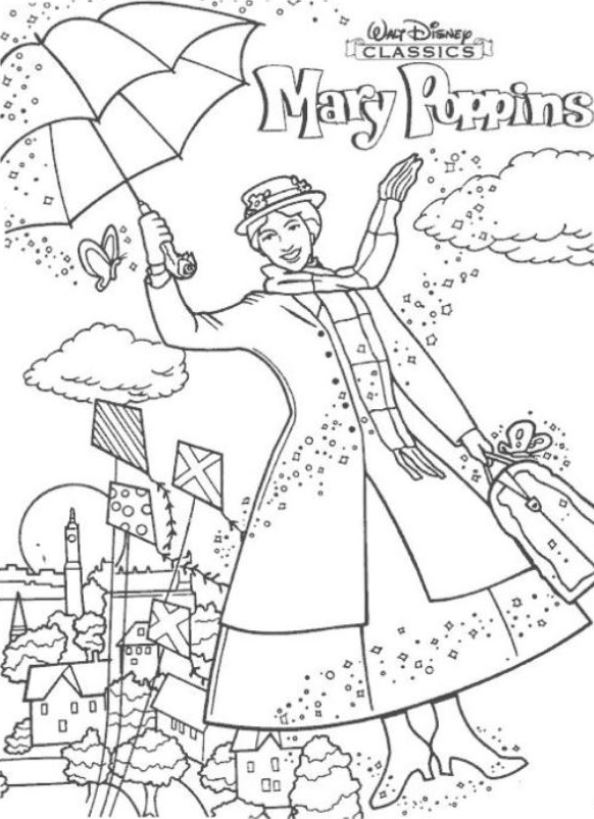 Kids-n-fun.com | 17 coloring pages of Mary Poppins