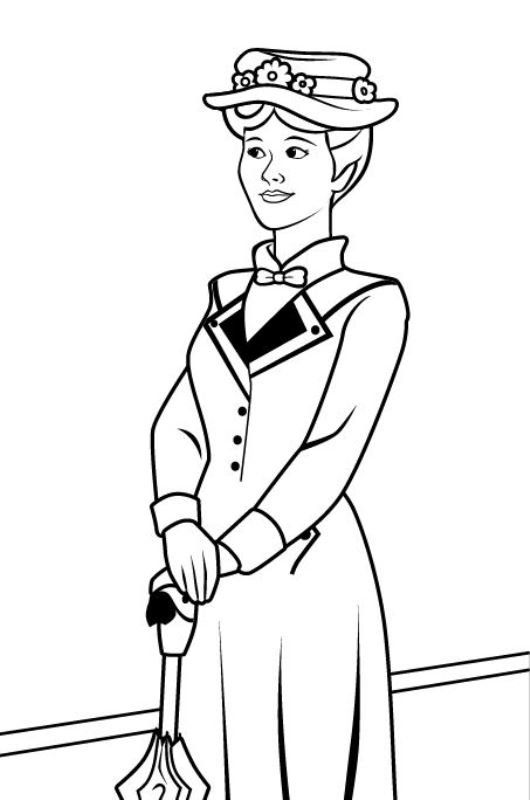 Kidsnfuncouk 17 Coloring pages of Mary Poppins