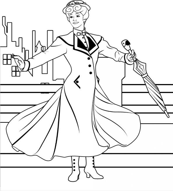 17 Mary Poppins Coloring Pages