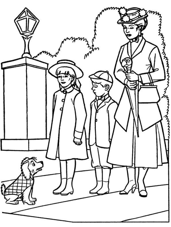Kids n fun com 17 coloring pages of mary poppins