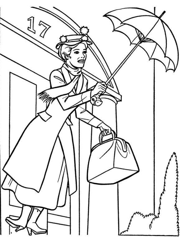 kidsnfuncom 17 coloring pages of mary poppins