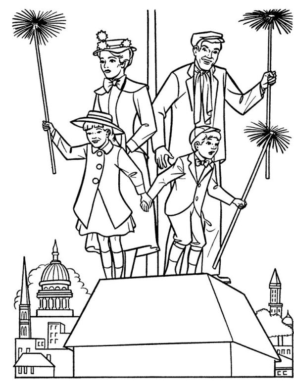 Mary Poppins: Mary Poppins Characters Coloring Coloring Sheets At Alzheimers-prions.com
