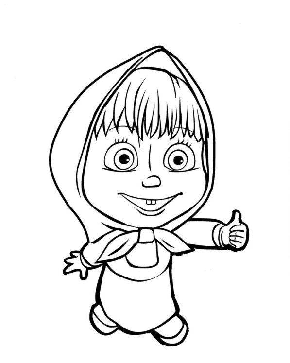 n 50 coloring pages of mascha and