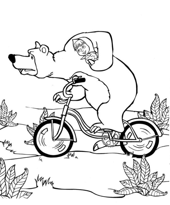 Kids-n-fun.com | 50 coloring pages of Mascha and bear