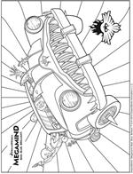 Kids n fun 4 coloring pages of megamind for Megamind coloring pages