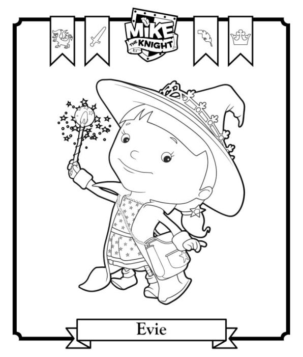 Kids N Fun Co Uk 6 Coloring Pages Of Mike The Knight