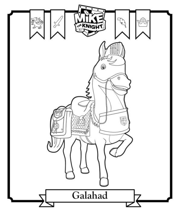Kids N Fun Com Coloring Page Mike The Knight Galahad Mike The Colouring Pages
