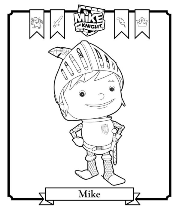 Kidsnfun 6 coloring pages of Mike the Knight