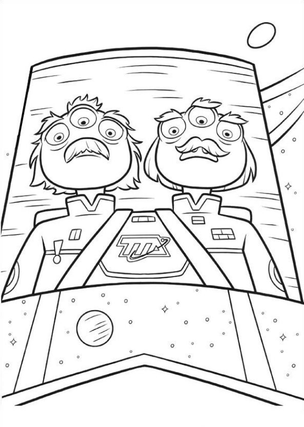 Coloring pages miles from tomorrowland