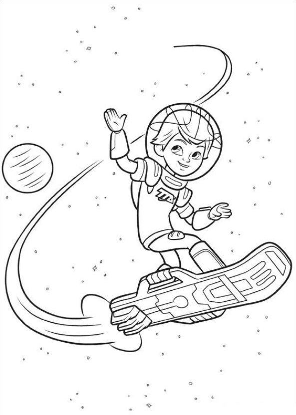 Kleurplaat Catboy Kids N Fun Com 21 Coloring Pages Of Miles From Tomorrowland