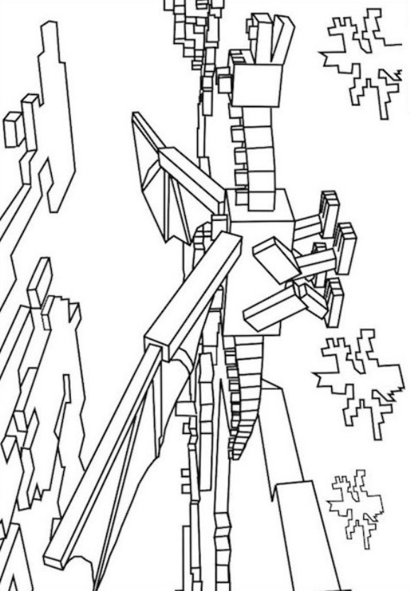 19 Minecraft Coloring Pages