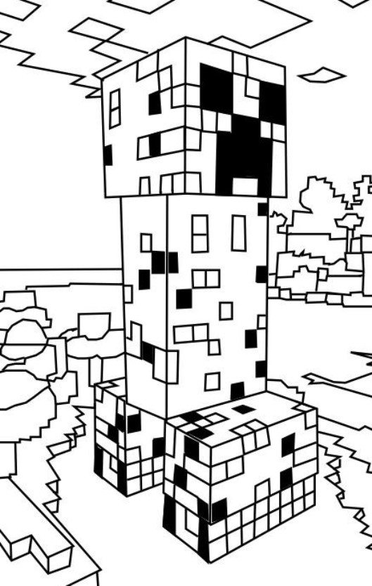19 Coloring Pages Minecraft