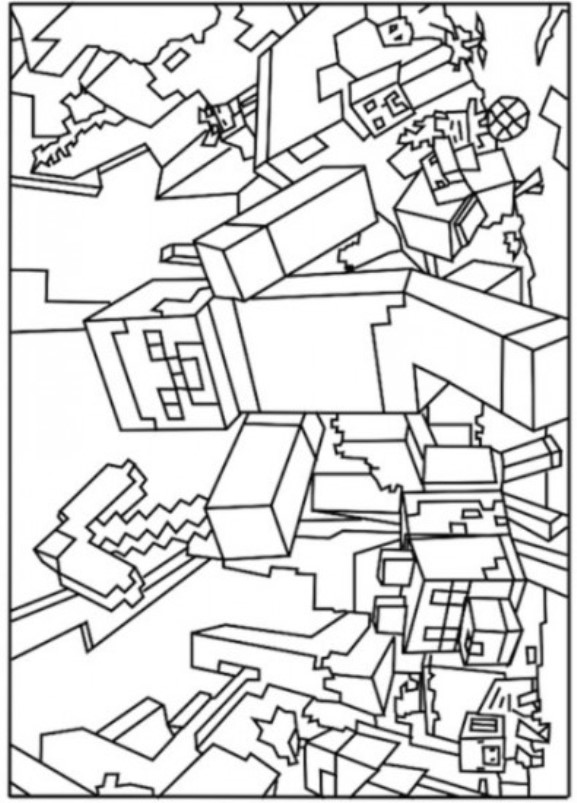 Kids n funcouk 19 coloring pages of Minecraft