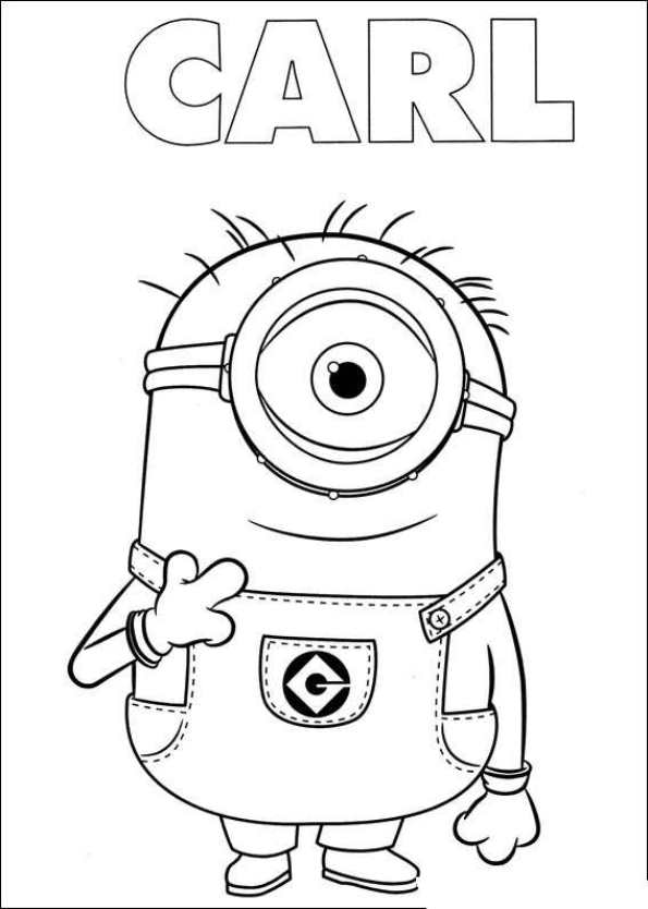 Kids N Fun Co Uk Coloring Page Minions Minions 23