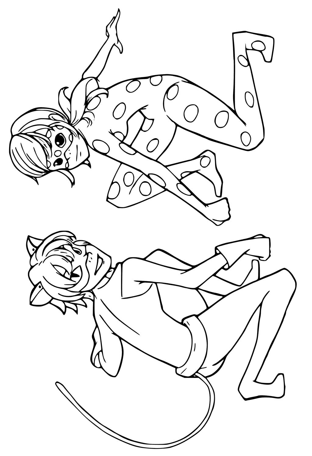 kids n fun com coloring page miraculous tales of ladybug and cat