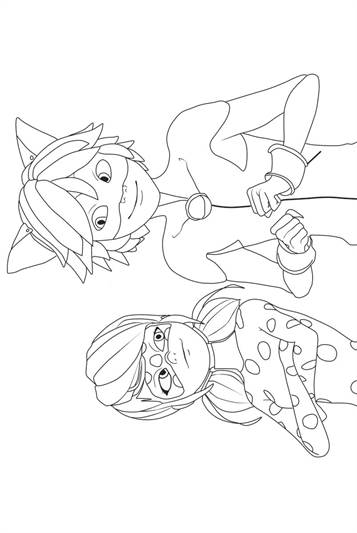 kids-n-fun | 19 coloring pages of miraculous tales of