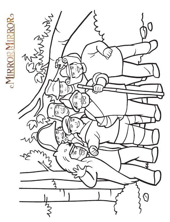 4 mirror mirror coloring pages