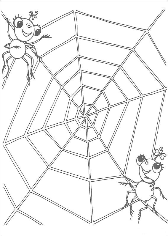 Coloring pages: Coloring pages: Miss Spider, printable for kids ... | 794x567