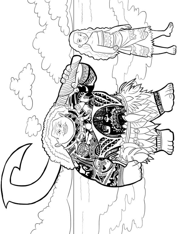 Free Colouring Pages Moana : Kids n fun.com 20 coloring pages of moana