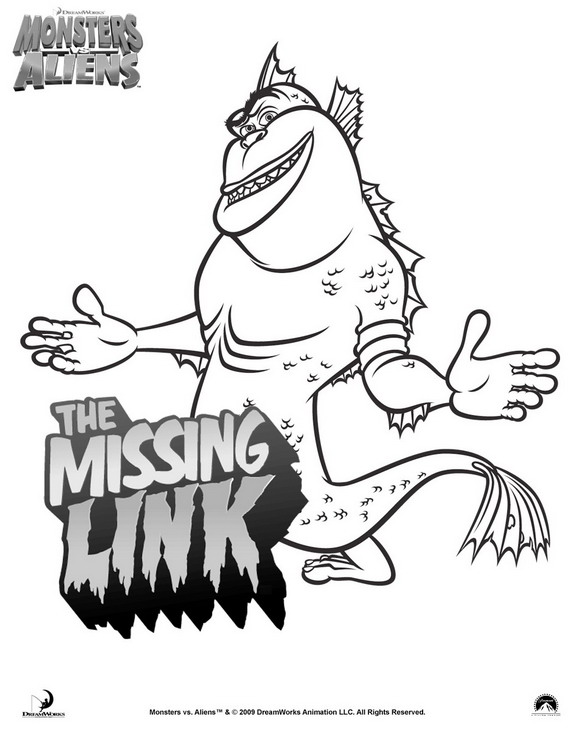 Kids-n-fun.com | 21 coloring pages of Monsters vs Aliens