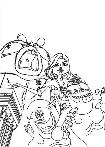 Kleurplaten Ruimtewezens.Kids N Fun Com 21 Coloring Pages Of Monsters Vs Aliens
